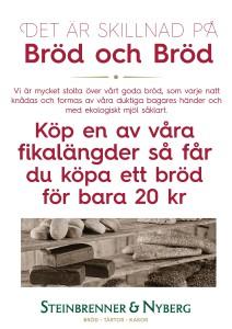 Bröd är bröd röd skylt - Kopia