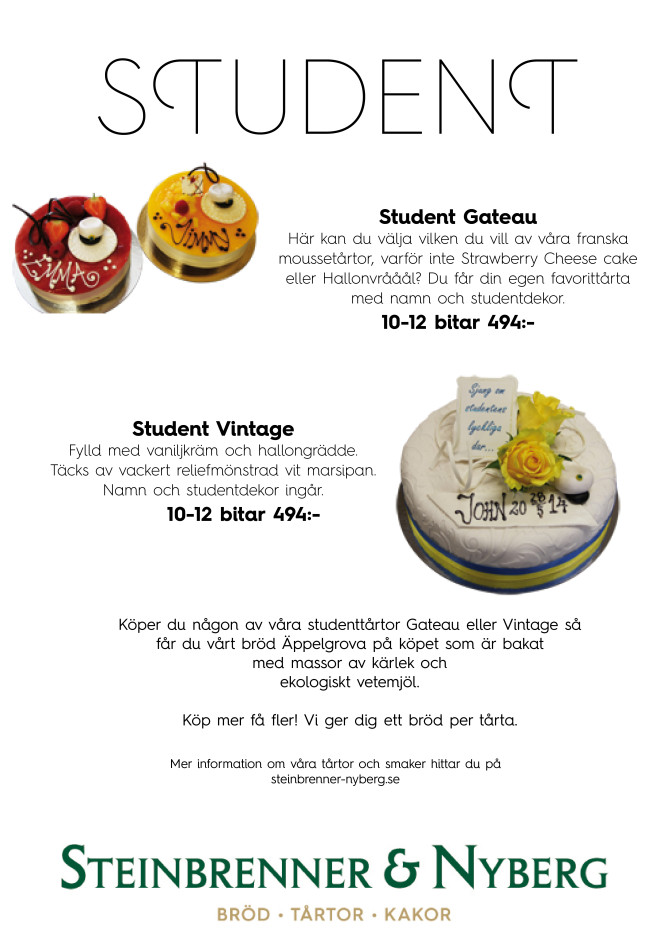 Student 2015 flyer tårtor